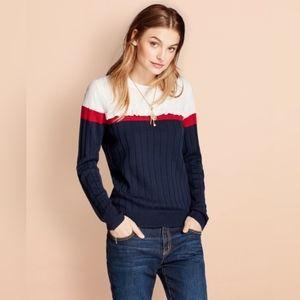 Brooks Brothers Ruffled Mixed-Stitch Sweater